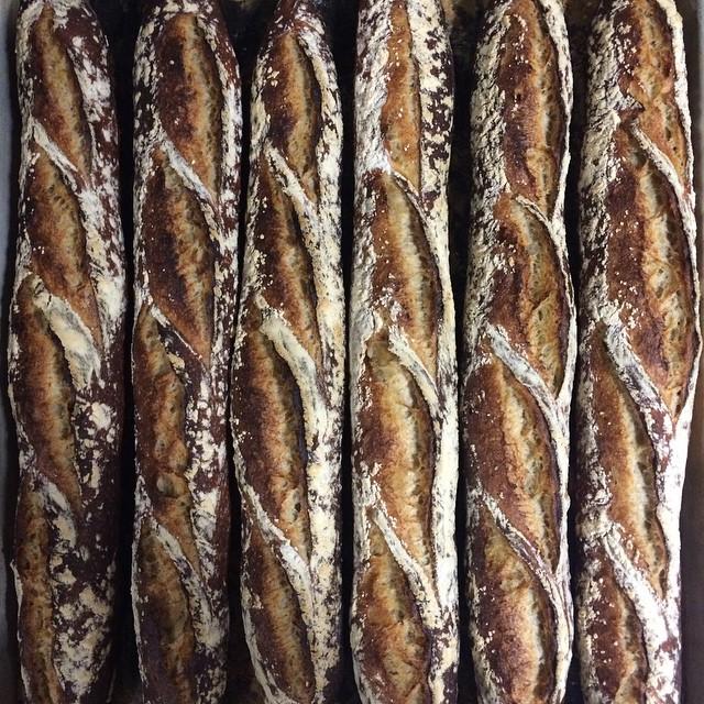 Natural leavened Baguette, Wolfgang local organic rye & light wheat…