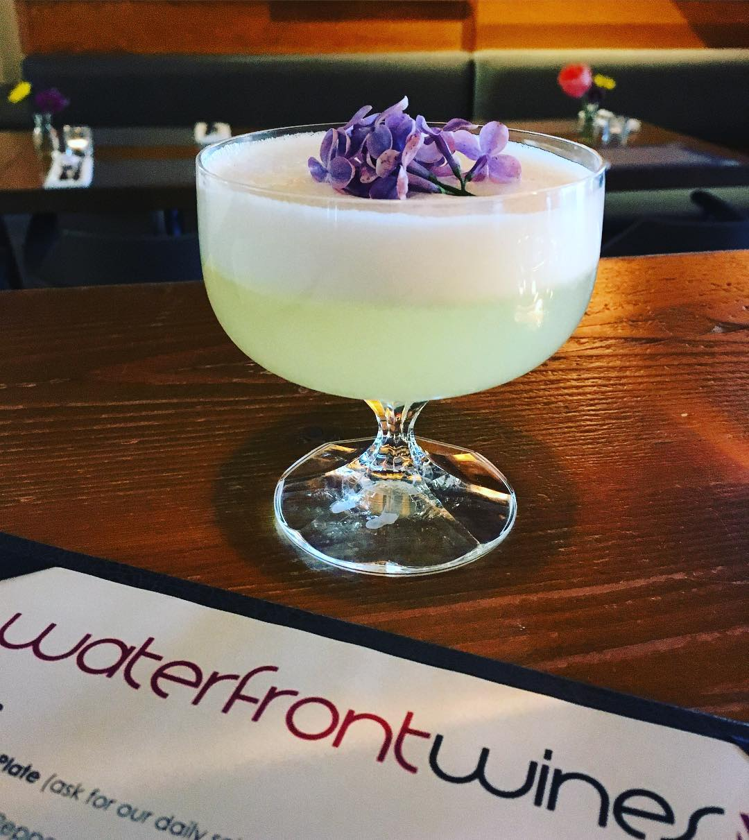 Cocktail feature okanaganspirits gin lilac sour waterfrontwines ginforthewin supportlocal drinkallthethings