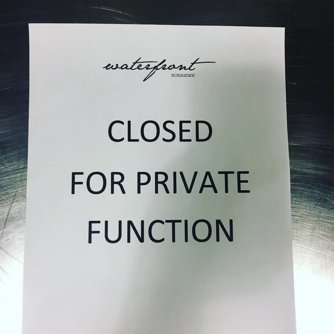 Sorry folks we are closed for a private function thishellip