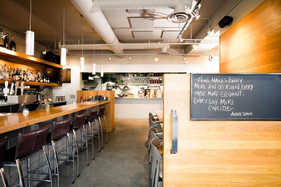 Waterfront Wines Restaurant bar seating